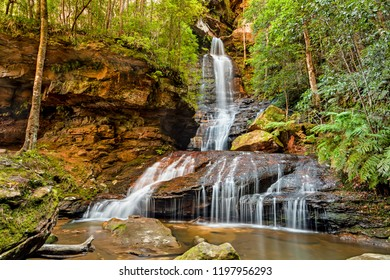 Empress Falls in the Blue Mountains National Park of Australia, New South Wales, NSW near Katoomba and Sydney