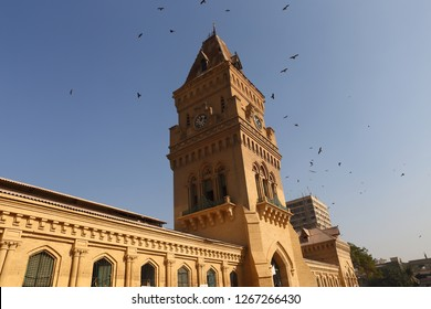 Empress market clock tower in Karachi, Pakistan