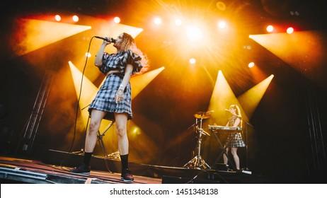 Empress Of at Sideways festival. Helsinki, Finland - 6-8 June 2019,  Helsinki Ice Hal.