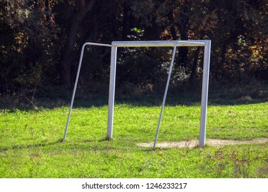 empty and abandoned football field