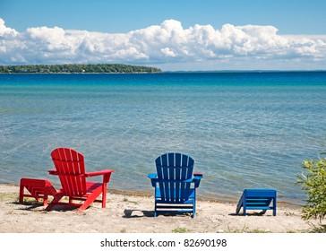 Adirondack Chair Beach Stock Images RoyaltyFree Images Vectors
