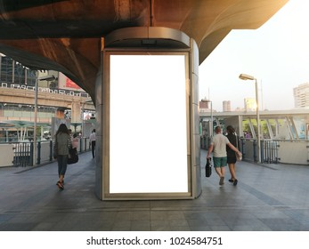 Empty advertising billboard with copy space with urban city concept