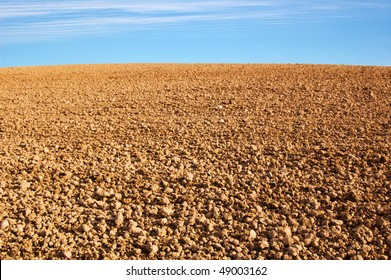 empty agricultural ground