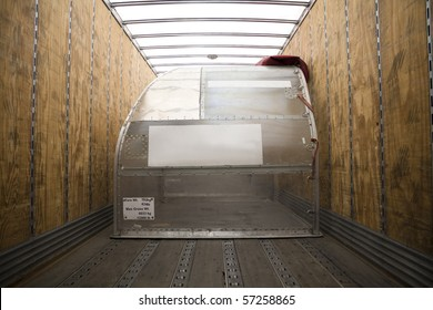 Empty Air Freight Container inside Truck