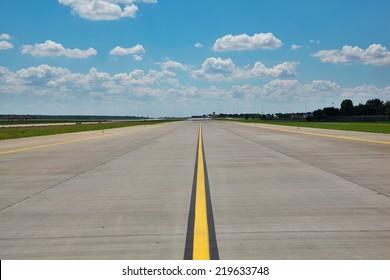Empty airport runway (taxiway)