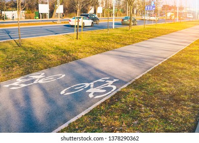 Imágenes, fotos de stock y vectores sobre Paved Cycling Path
