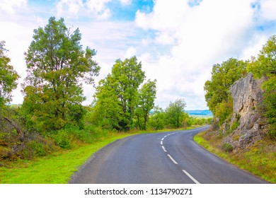 empty asphalt road and beautiful landscape
