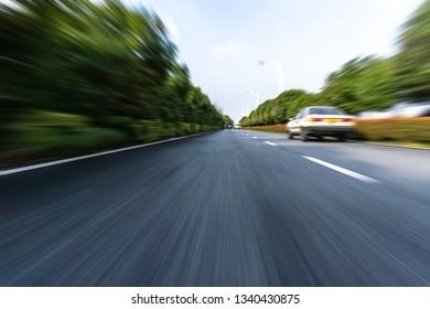 empty asphalt road  in city