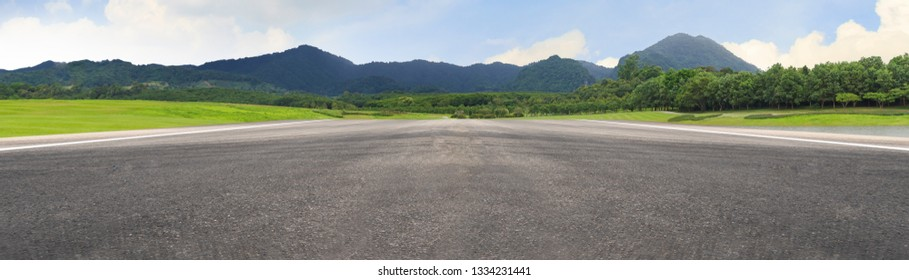 Empty asphalt road and mountain nature landscape