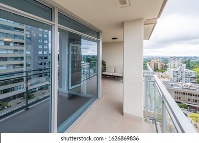 Empty balcony or veranda in a modern house or apartment.