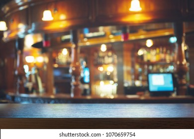 Empty bar counter