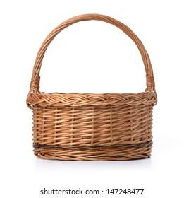 Empty Basket isolated over white background