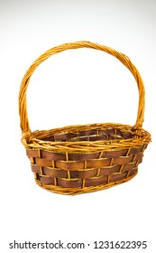 Empty basket item : new year gift basketry on copy space