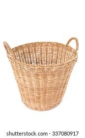 Empty basket on white.