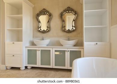 Empty bathroom inside a modern house