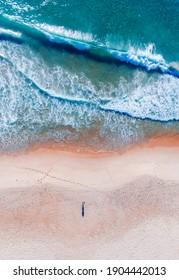 Empty beach from above Australia