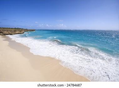 Empty beach in Barbados