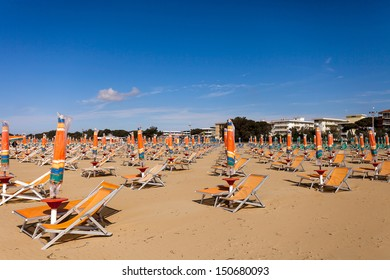Empty beach at Bibione. Italy.