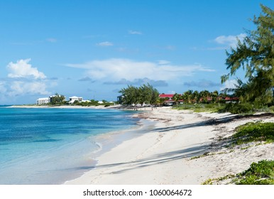 The empty beach in Cockburn Town on Grand Turk island (Turks and Caicos Islands).