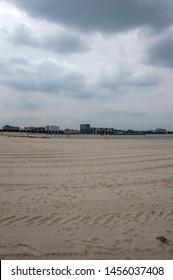 Empty Beach At IJburg Amsterdam The Netherlands 2019