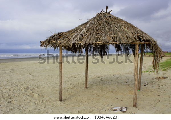 Empty beach kiosk