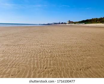 Empty beach north side of Bridlington. North beach Bridlington