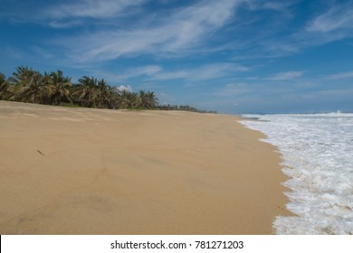 Empty beach on the Pacific Coast