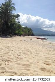 empty beach in Sabang Beach, Puerto Galera, Oriental Mindoro, Philippines
