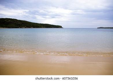 empty beach of Sydney, NSW Australia