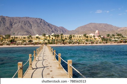 Empty beach in Taba, Egypt