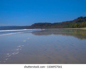 Empty beach walk in Costa Rica