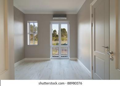 Empty bedroom inside a modern house