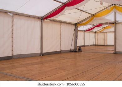 empty beer tent