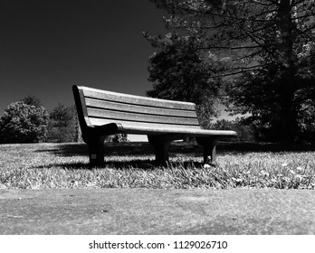 Empty bench outdoors