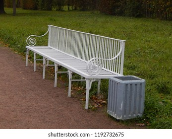 Empty benches in the autumn park