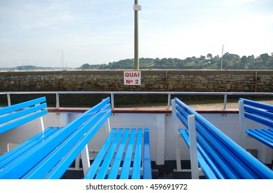 Empty benches on french ferry