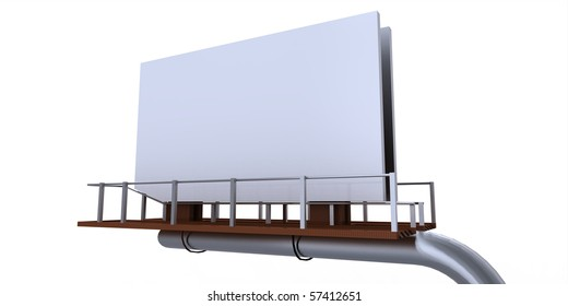 Empty Billboard Advertising Sign