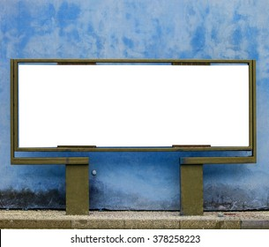 Empty billboard against urban background