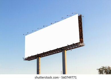 Empty Billboard with Clear Sky