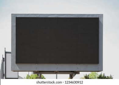 Empty Black Digital Billboard Screen for Advertising
