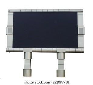 Empty black digital billboard screen for advertising