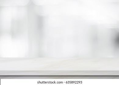 Empty black marble over blur store background, product and food display montage