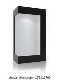 Empty Black Package With Light Inside, Exhibit Box