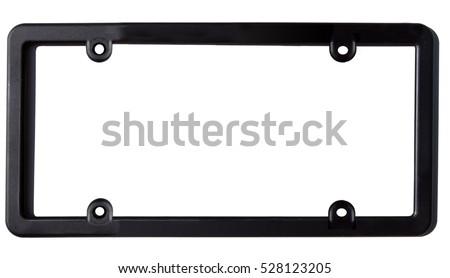 Empty Black Plastic Car License Plate Stock Photo (Edit Now ...