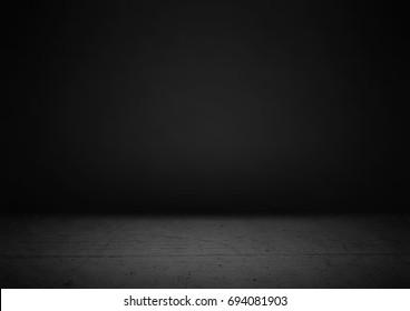 Empty black product showcase background