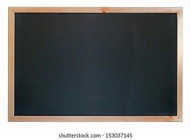 empty blackboard on white background