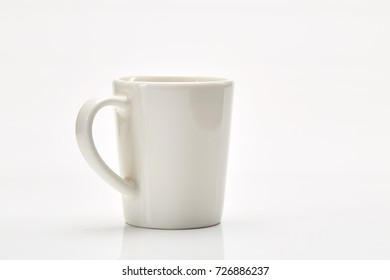 Empty Blank Cup isolated on white background