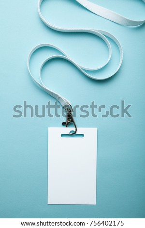 empty blank id card badge copy stock photo edit now 756402175