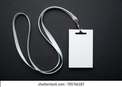 Empty blank identity sign on a black background, mockup.