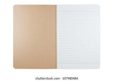 empty blank notebook from recycle paper and cover